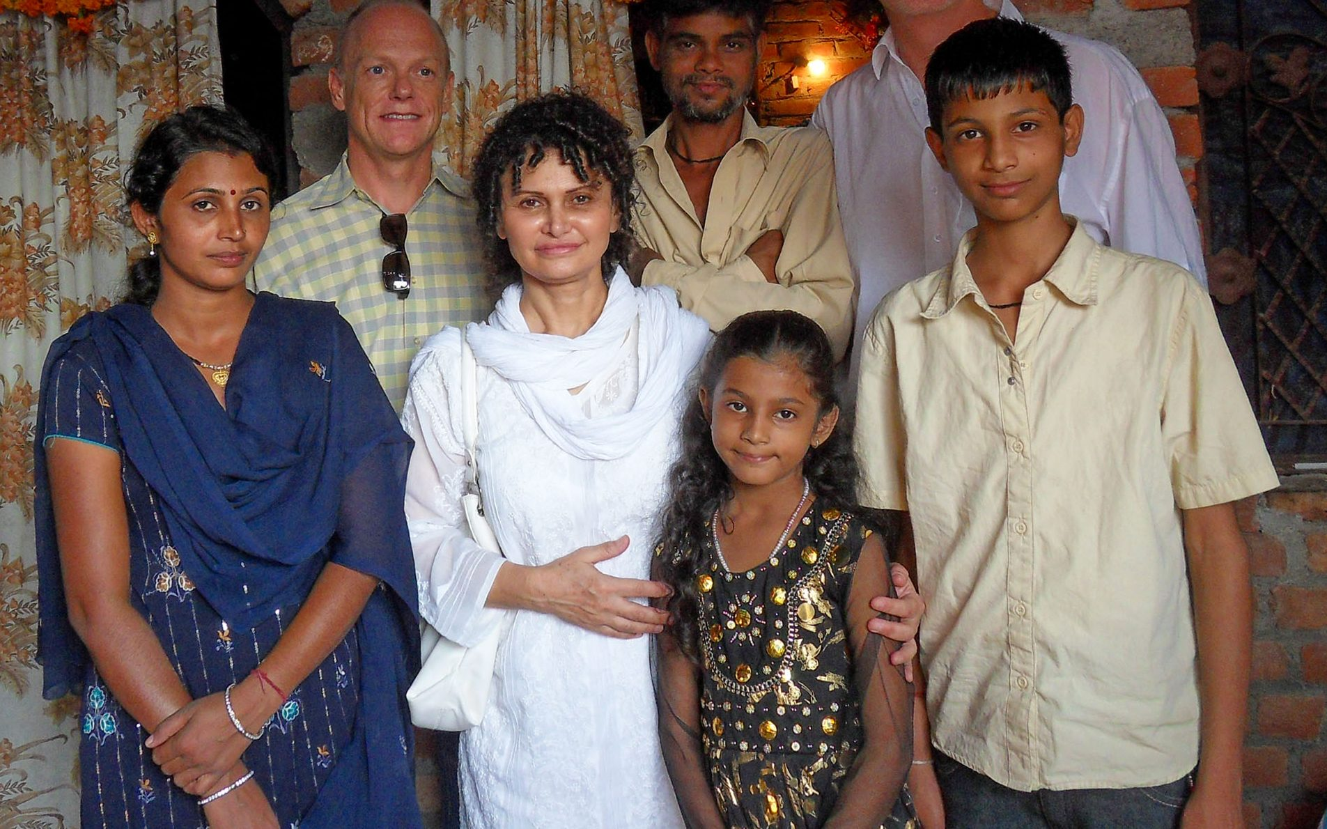 VIkrant (right) with his family in India