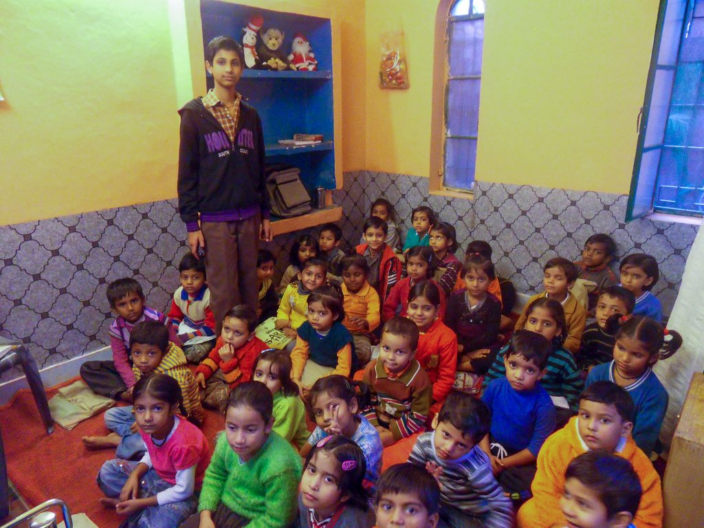 Vikrant teaching in the classroom